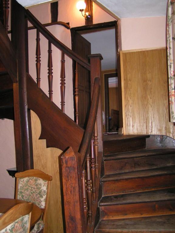 Treppe vom Eßzimmer ins Zwischengeschoß